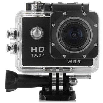1.5 inch LCD HD 1080P WiFi Sports Action Camera 30m Waterproof H.264 DVR with 170 Degrees Angle - 100 - 240V