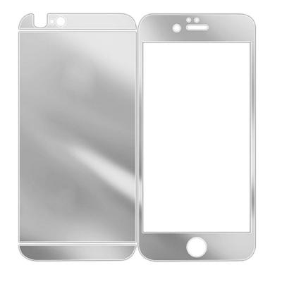 1 Price Tempered Glass Mirror Silver Screen Protector for iPhone 6/6s