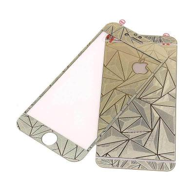 1 Price Tempered Glass Screen Protector Diamond Gold for iPhone 6/6s