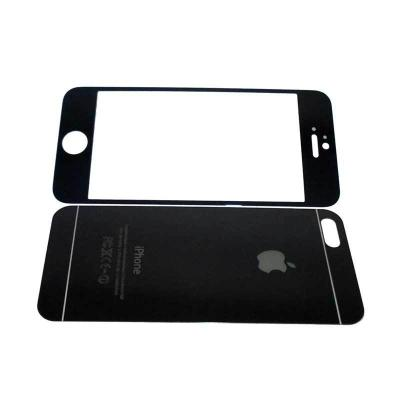 1 Price The Kingtech Mirror 2 in 1 Black Tempered Glass for Iphone 4