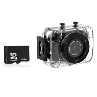 123S 2.0-inch Touch Screen 10M Waterproof Sports Digital Camera DV Camcorder with 16GB Micro SD TF Card (Black) (Intl)