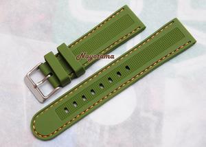 Harga 22mm Watchdis Dakota Green Rubber Strap - Tali Jam Tangan ...
