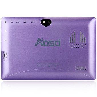 AOSD Q88S Android 4.4 Tablet PC ATM7021 Dual Core 1.3GHz WVGA Screen Dual Cameras 4GB ROM (Violet/ Black)