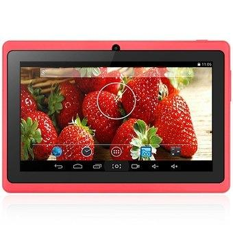 AOSD Q88S Android 4.4 Tablet PC ATM7021 Dual Core 1.3GHz WVGA Screen Dual Cameras 4GB ROM (Pink/ Black)