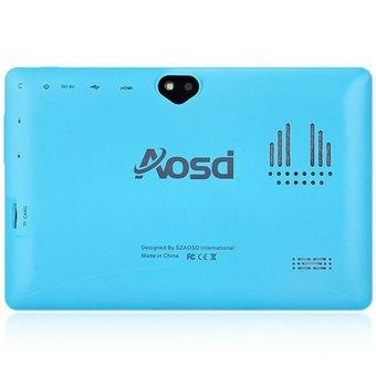 AOSD Q88S Android 4.4 Tablet PC ATM7021 Dual Core 1.3GHz WVGA Screen Dual Cameras 4GB ROM (Blue/ Black)