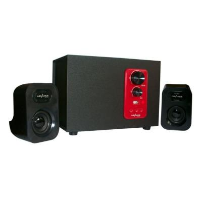 Advance M-080 Speaker - Hitam/Merah