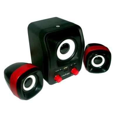 Advance Speaker USB Duo-300 - Hitam/Merah
