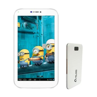 Aldo T33 Putih Tablet + Putih Powerbank