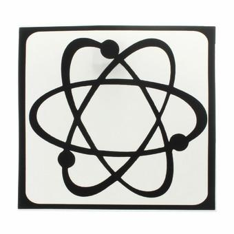 "Atom Nucleus Sticker Decal For Apple Laptop Air/Pro 3/15/17"" (Black)"