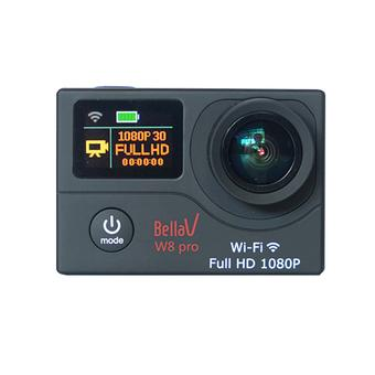 BellaV W8 Pro Action Cam - 12MP - Hitam