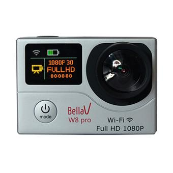BellaV W8 Pro Action Cam - 12MP - Silver