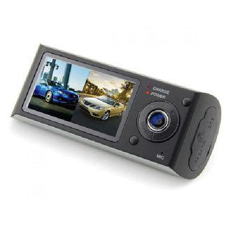 Blackbox DVR Baco Car Vehicle Dual Camera 2.7 Inch LCD + GPS Logger with Wide Angle 140 Degree - R300