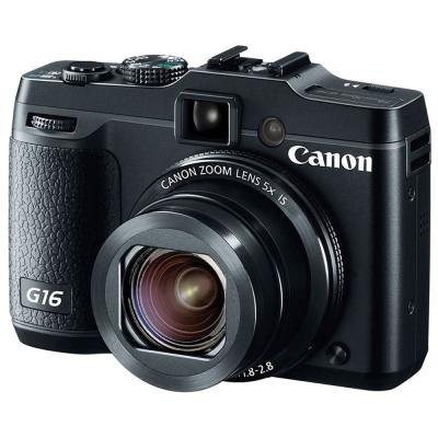 Canon Power Shot G 16 - 12.1MP - 5x Optical Zoom - Hitam