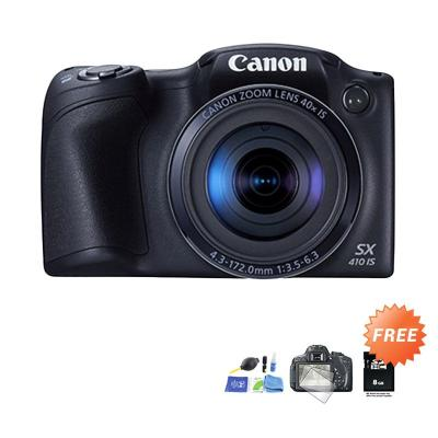 Canon PowerShot SX410 IS Kamera DSLR + Screen protector + Cleaning Kit + SDHC 8 GB