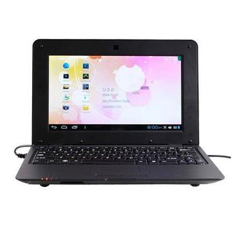 "DWO Netbook - 10"" - ARM - 256MB RAM - Android 4.2 - Wifi - HD 1G - Mini Laptop - Hitam"