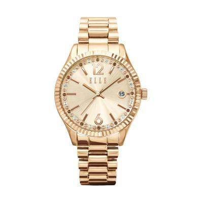 Elle Time EL20331B04C Rose Gold Stainless Bracelet Jam Tangan Wanita