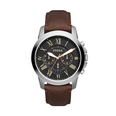 FOSSIL Grant Chronograph Black Brown FS4813 Jam Tangan Pria