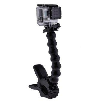 FSH Universal Adjustable Neck Jaws Flex Clamp Camera Monopod for outerdoor Clip (Black) (Intl)
