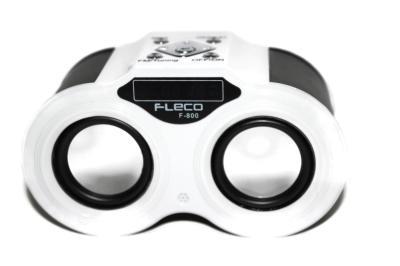 Fleco Speaker Audio Player F-800| Rechargable| Bentuk Teropong Unik