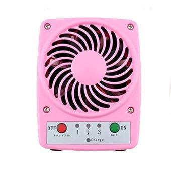 Flextreme Mini Fan Baterai - Kipas Angin Mini Baterai Isi Ulang - Pink