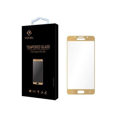 Fonel Full Tempered Glass for Samsung Galaxy A7 2016 - Gold