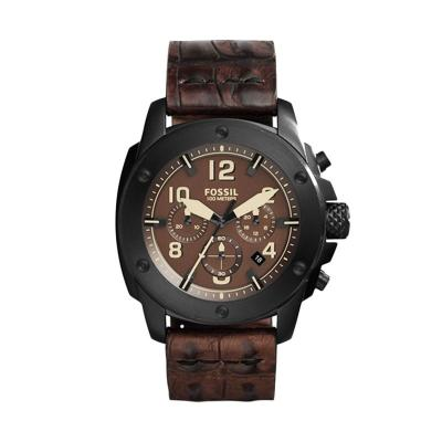 Fossil FS 5095 Black Brown Jam Tangan Pria