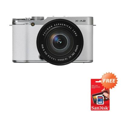 Fujifilm X-A2 Kit 16-50mm Putih Kamera Mirrorless [16 MP] + Sandisk SDHC 8 GB