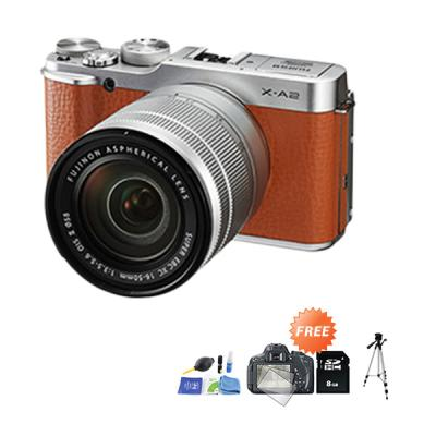 Fujifilm X-A2 Kit 16-50mm f/3.5-5.6 OIS II Kamera Mirrorless + Anti Gores + SDHC + Cleaning Kit + Tripod
