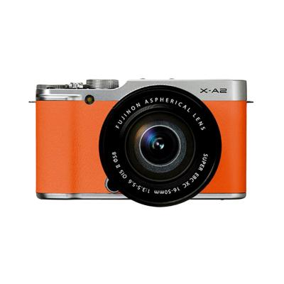 Fujifilm X-A2 Kit XC16-50mm f3.5-5.6 OIS Orange Kamera Mirrorless