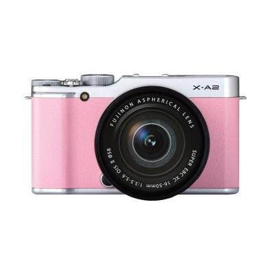 Fujifilm X-A2 Kit XC16-50mm f3.5-5.6 OIS Pink Kamera Mirrorless
