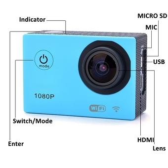 GE Sport Camera 12MP Full HD 1080P Underwater Action Camera CAM Wi-Fi DV Camcorder SJ4000 Wi-fi Waterproof Camera (Blue) (Intl)