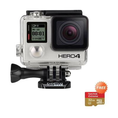 Gopro Hero 4 Silver Action Camera + Sandisk 32 GB