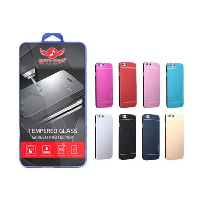 Guard Angel Tempered Glass Screen Protector Bundling Motomo Metal Casing for Samsung Galaxy S Duos i7562