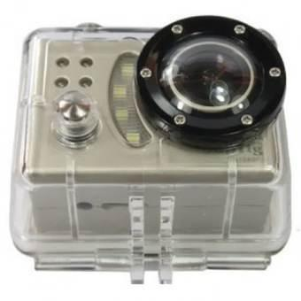 HD SupTig 1080P Waterproof Action Camera with Mount - DV5000 - Silver