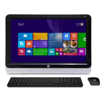 HP PC All in One 20-r024D - Intel Core i3-4170 - 2GB RAM - Windows 8.1 - Hitam