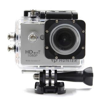 "Hunter Action Camera 12 MP Full HD 1080P H.264 LCD 2"" + Waterproof Case - Silver - Free Shipping Jabodetabek"