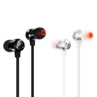 JBL T280A IN-Ear Pure Bass Stereo Headphone with Mic (Black)
