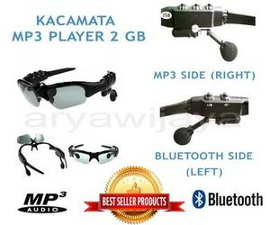 Kacamata MP3 Sunglass Bluetooth 2 GB