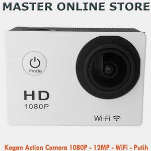 Kogan Action Camera 1080P - 12MP - Wifi Putih Incld Waterproof Case
