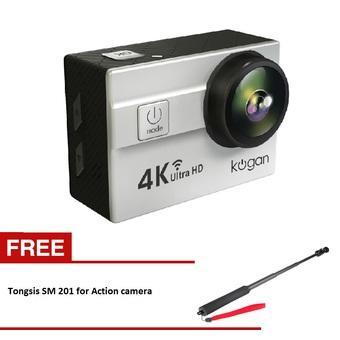 Kogan Action Camera 4K Plus UltraHD - 16MP - Putih - WIFI - Putih + Tongsis SM 201 for Action Camera