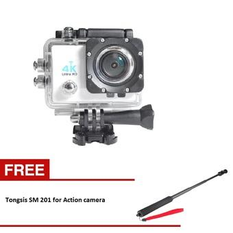 Kogan Action Camera 4K UltraHD - 16MP - Putih - WIFI - Putih + Tongsis SM 201 for Action Camera