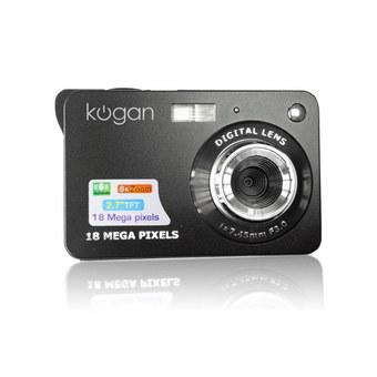 Kogan Kamera Digital - 18MP - 8x Optical Zoom - Hitam
