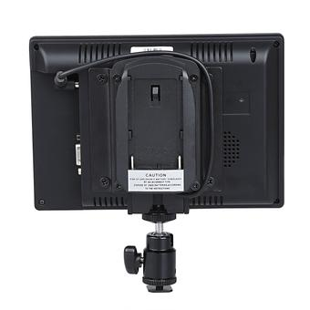 Koolertron Protable 1080P 7 Inch On Camera/Crane Jib Field Monitor 800x480Pixel for DSLR HDMI VGA W/F970 Adapter (Black)