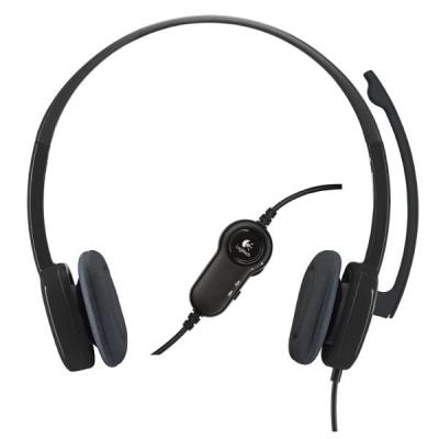 Logitech H151 Stereo Headset - Hitam