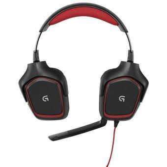 Logitech Headset H230 Stereo - Hitam-Merah