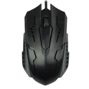 Luxury 1200 DPI USB Wired Optical Gaming Mice Mouse For PC Laptop Black