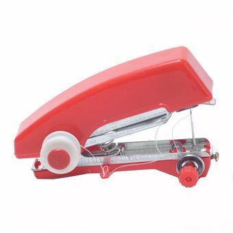Mini Manual Sewing Household Machines / Mesin Jahit - Merah