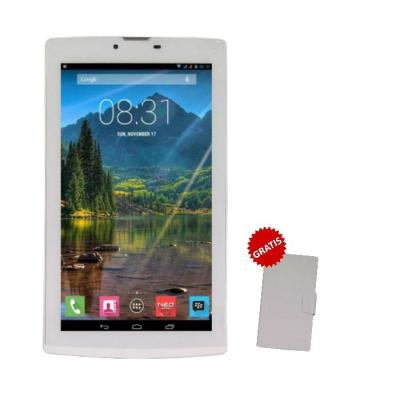 Mito T75 Fantasy Tablet - 8GB - Putih + Gratis Flipcover Original