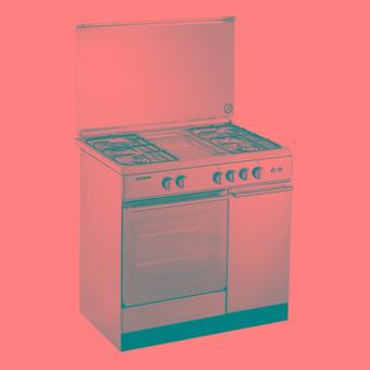 Modena Kompor Oven - Freestanding - FC 7941S - Stainless 4 Tungku - Silver - Pengiriman