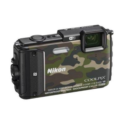 Nikon Coolpix AW130 Waterproof Wifi Camera - Camouflage - 16.1MP - 5x Optical Zoom